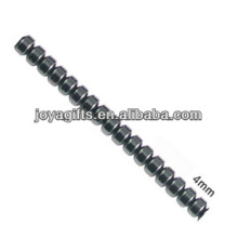 Natural high quality 4MM hematite loose beads for jewelry making